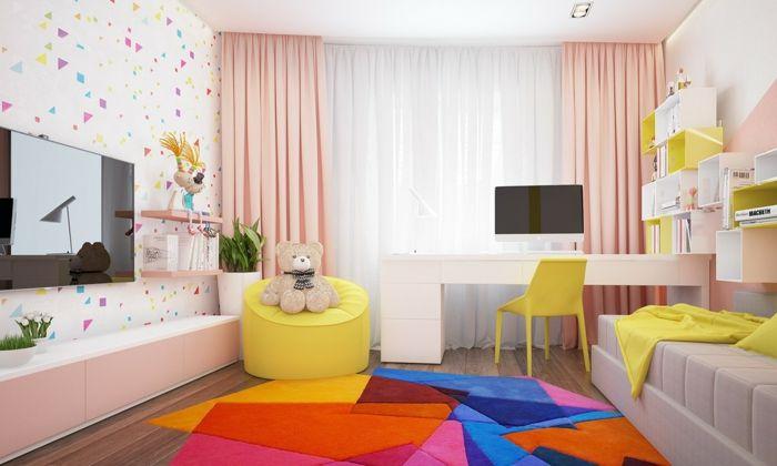 wohnideen kinderzimmer wandgestaltung, awesome wohnideen kinderzimmer farbiger teppich frische, Design ideen