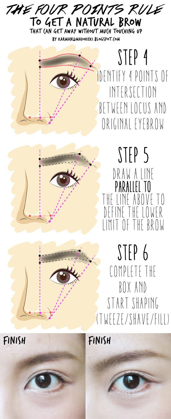 How To Fill In Your Eyebrows With Pencileyelinereyeshadowpowder