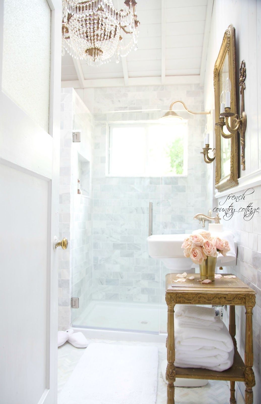 French Cottage Bathroom Renovation- Reveal | French cottage, French ...
