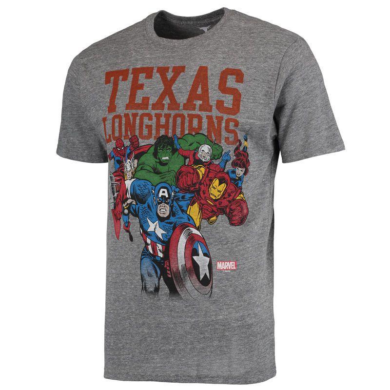 Texas Longhorns Marvel Heroic Team TriBlend TShirt