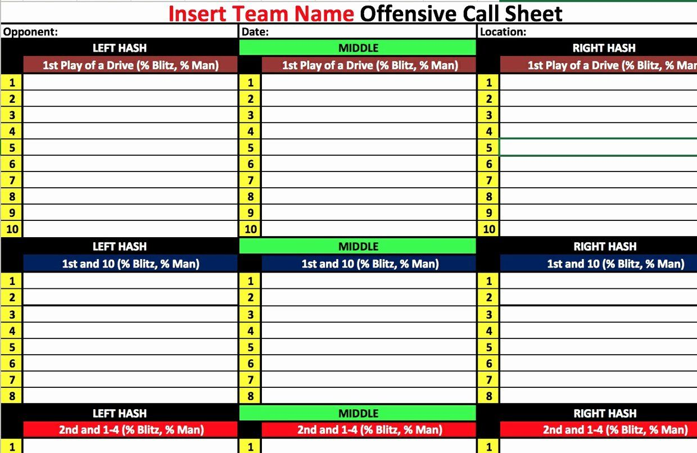College Football Practice Schedule Template Best Of Fensive Game