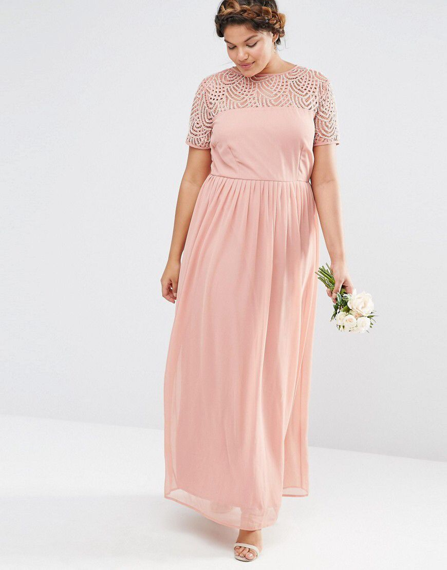 Lovedrobe Luxe Pleated Maxi Dress With Pearl Embellishment | Pinterest