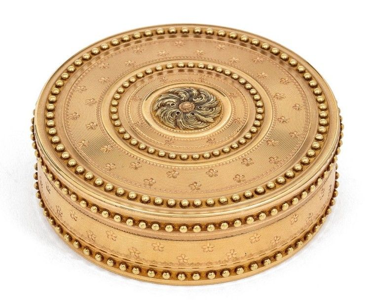 1781-1782 2 colour gold box French