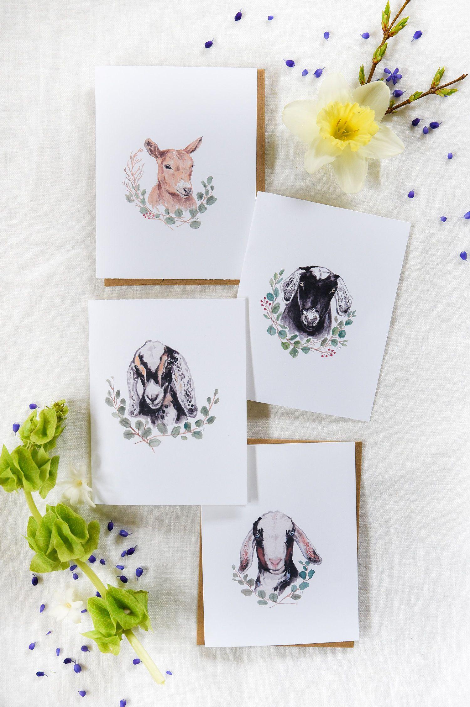 Free printable goat greeting cards boxwood ave
