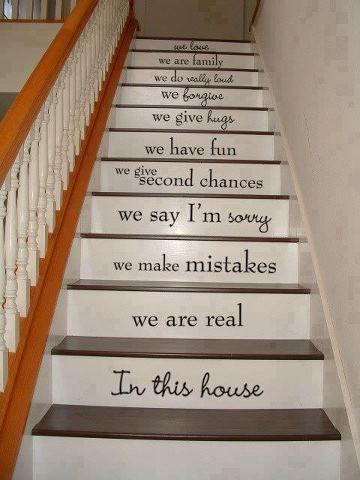 Great home idea! Sólo porque no tengo escaleras...