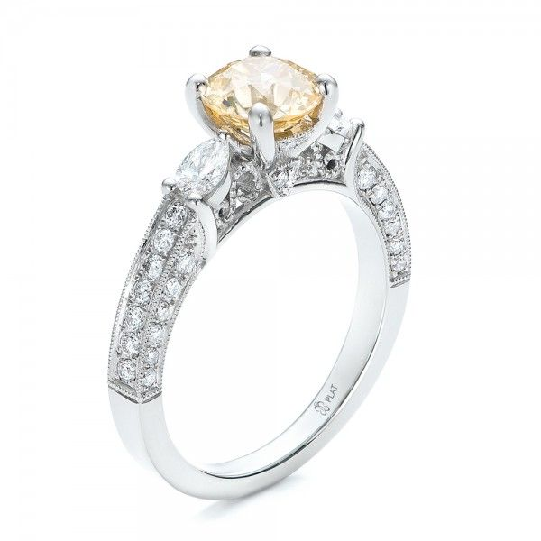 Custom Champagne Diamond Engagement Ring 100926 Bellevue Seattle
