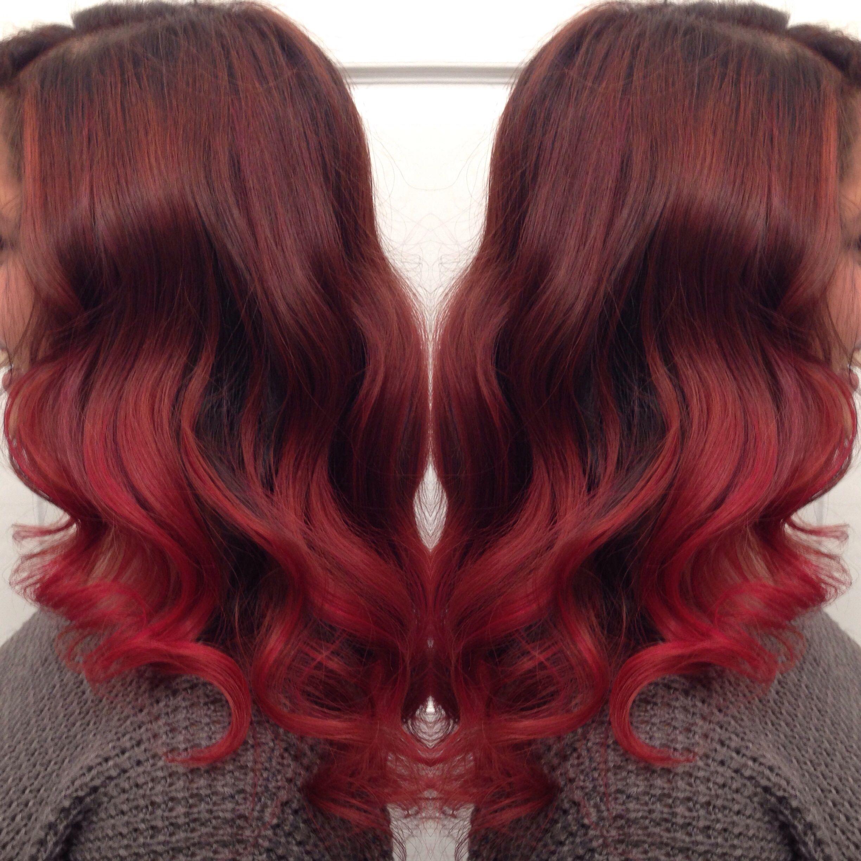 Red hair highlights balayage hair styles pinterest balayage