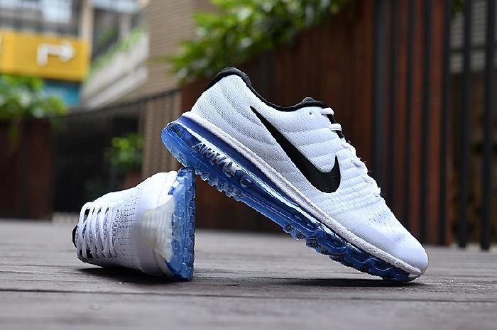 newest d2918 75dd4 Nike Air Max 2017 White Black Blue Running Shoes(40-46) Sale Nike Air Max  2017 White Black Blue Running Shoes(40-46)