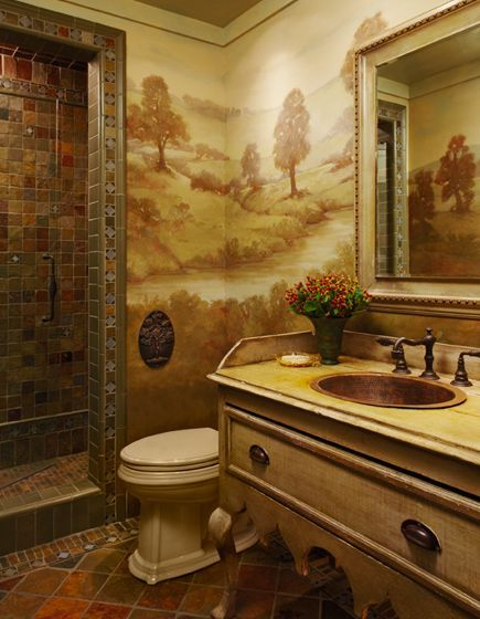 Beautiful Faux Painting Ideas for Bathroom