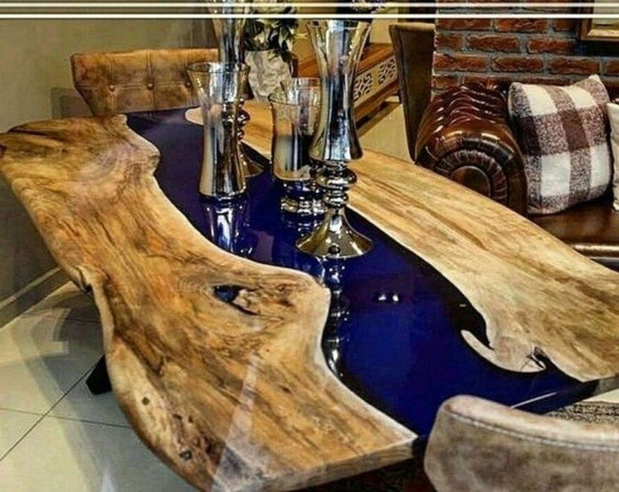 Amazing resin wood table ideas for your home furnitures 14