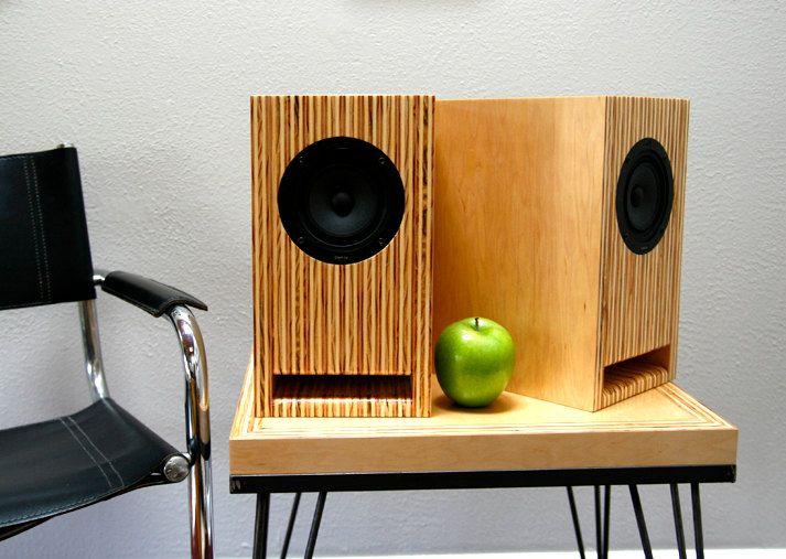 Layered Maple Plywood Speakers Handmade Full Range Bookshelf Stand Mount Speakers Wood Speakers Hifi Furniture Diy Speakers