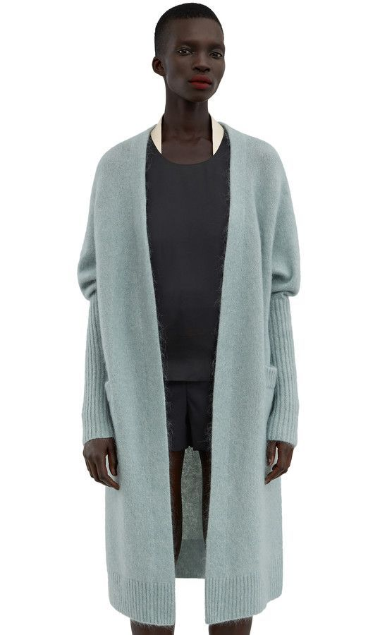"lifeasawaterelement: "" "" Acne Studios Raya Mohair Dull Jade Green ..."