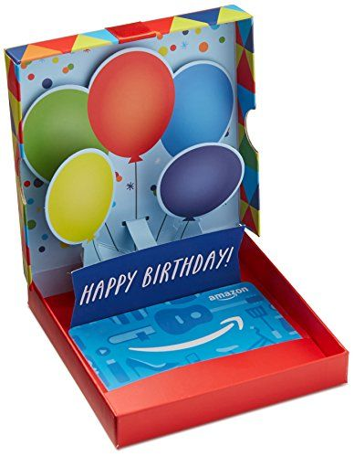 Amazon Com Gift Card For Any Amount In A Birthday Pop Up Box Gift Card Is Affixed Inside A Box Gift Amo Birthday Gift Cards Best Gift Cards Gift Box Birthday