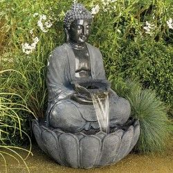 Attractive buddha water fountain 2 outdoor buddha water - Statue bouddha exterieur pour jardin ...