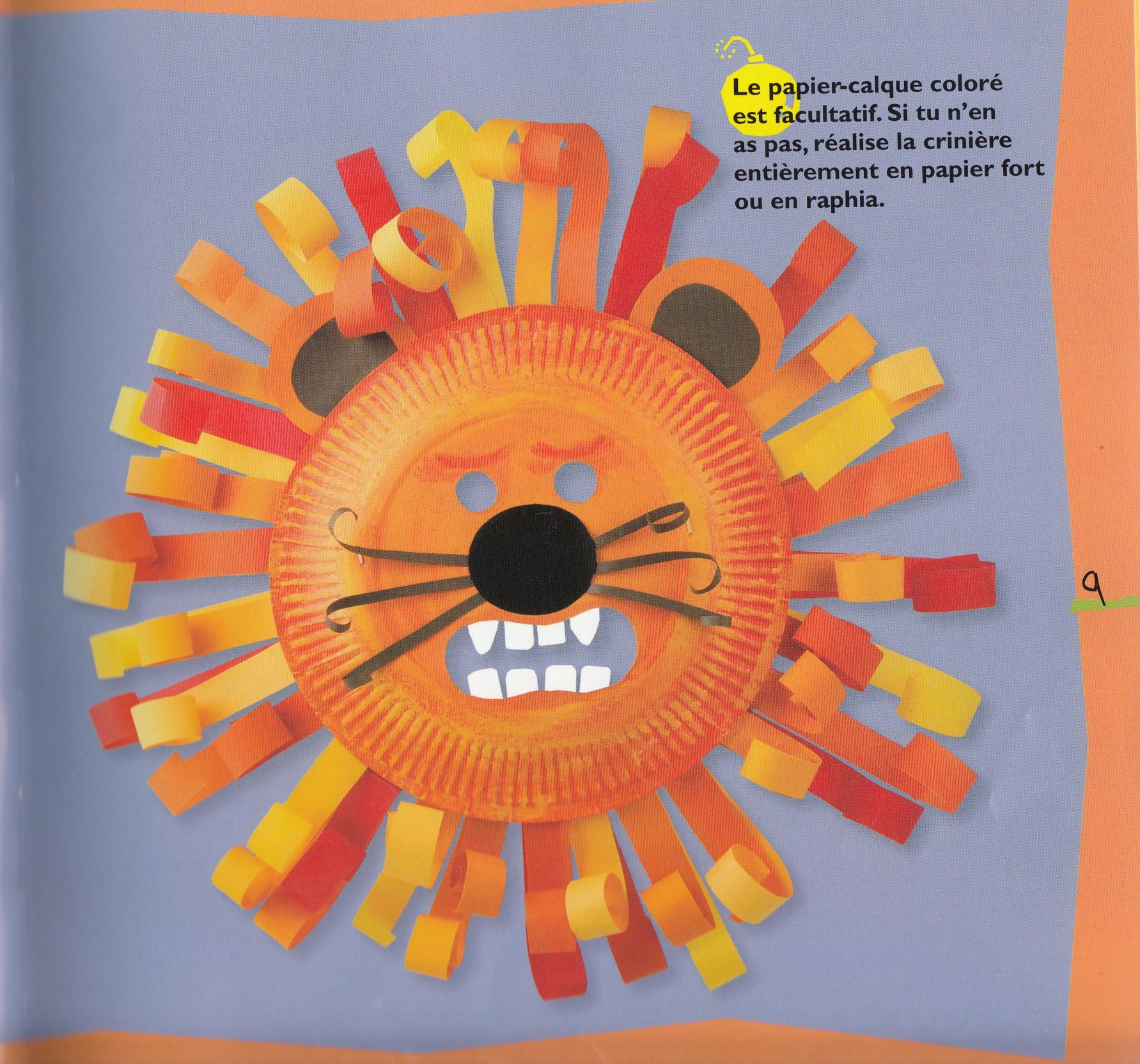 Diy masque lion carnaval livre masques de lebailly - Activite avec assiette en carton ...