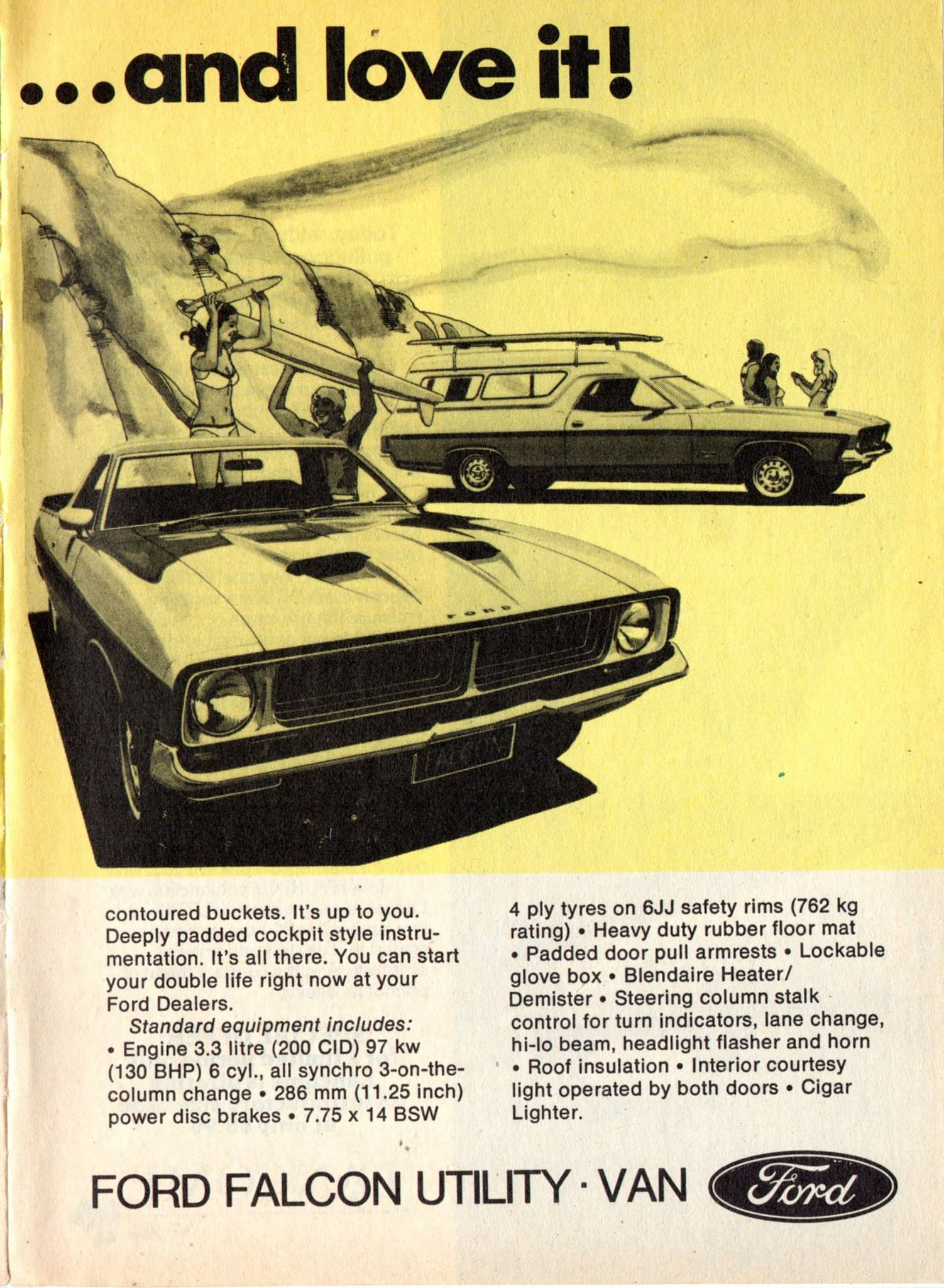 1976 Xb Ford Falcon Utility Ute Panel Van Page 2 Aussie Original Magazine Advertisement Vintage Muscle Cars Muscle Cars Camaro Muscle Cars Mustang