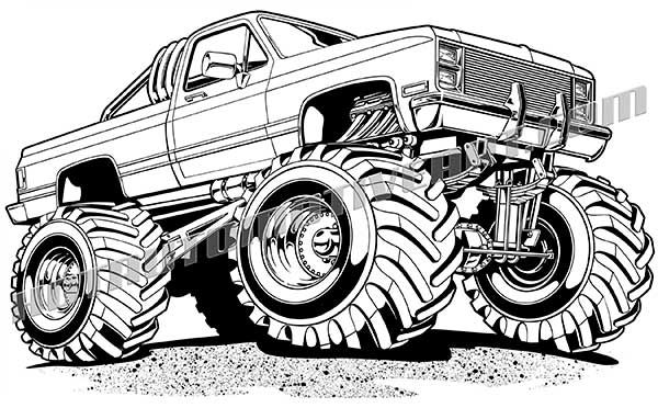 image title (With images) | Monster truck drawing, Cars ...