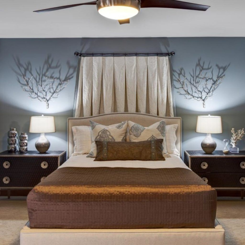 Small Bedroom Ceiling Fan Size Traditional bedroom