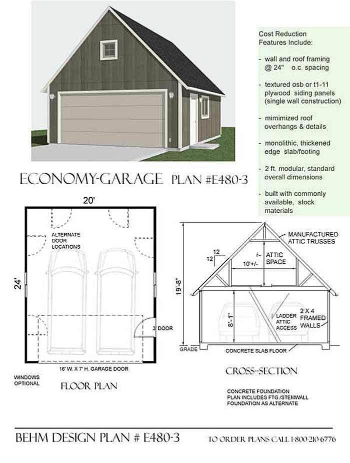 Free Garage Plans G524 20 X 24 X 10 Gambrel Garage Barn Plans Pdf And Dwg Barn Plans Garage Plans Shed Plans 12x16
