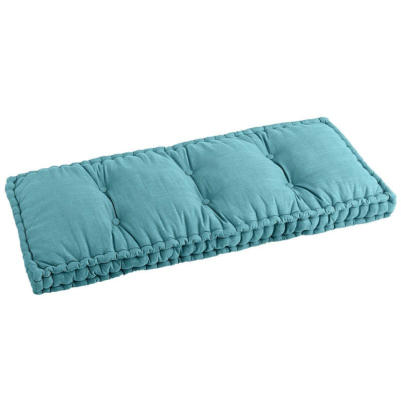 Boxed Bench Cushion Teal Bench Cushions Settee Cushions Mudroom Bench Cushion