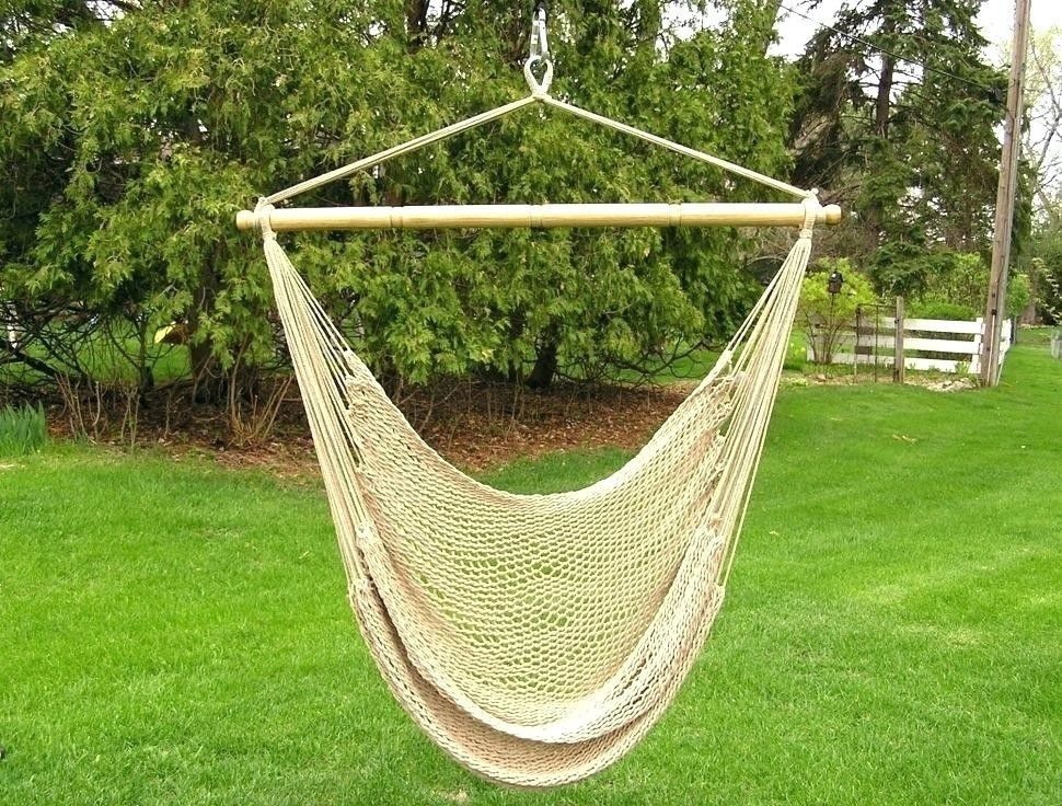 hanging chair rope lounge cushions clearance hammock swing outdoor indoor 4 ft hardwood cotton seat sling patio ideas deck porch