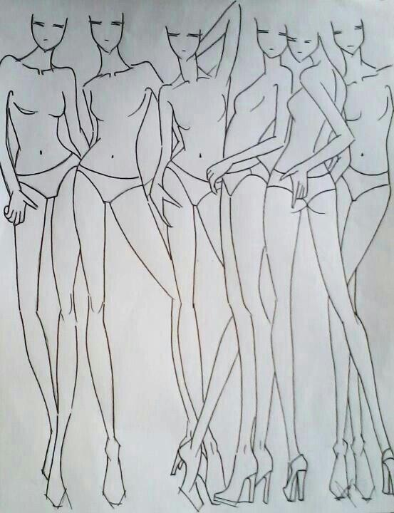 Posizioni varie per disegno moda. | Body mânga | Pinterest | Skizzen ...