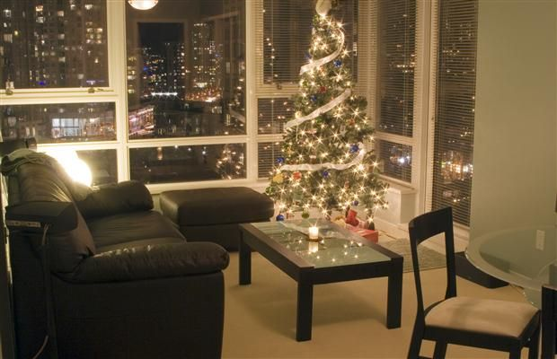 The key to condo holiday decorating is streamlining #christmas - decorative christmas trees
