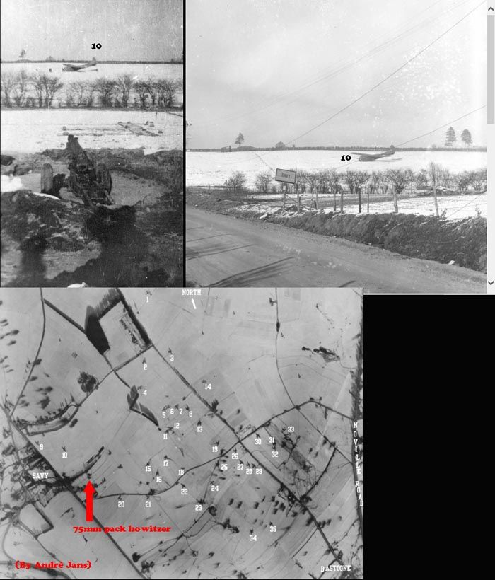75mm pack howitzer with glider no.10 near Savy