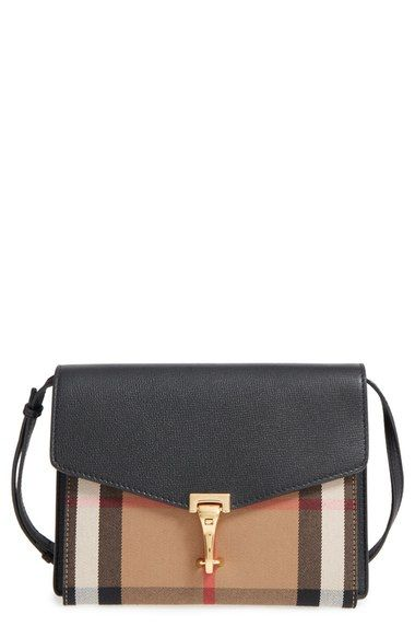 036567ce7581 BURBERRY  Small Macken  House Check Crossbody Bag.  burberry  bags   shoulder bags  leather  crossbody  cotton