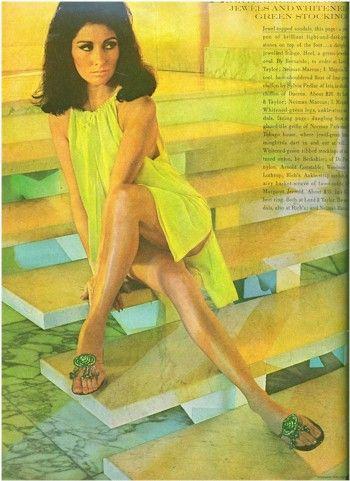 7b12ab965fa2 Vintage Bernardo Sandals in Vogue 1966