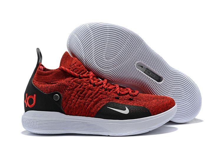 6f1b6aa7f14c2 Latest Nike KD 11 University Red/Black-White Men's Basketball Shoes ...