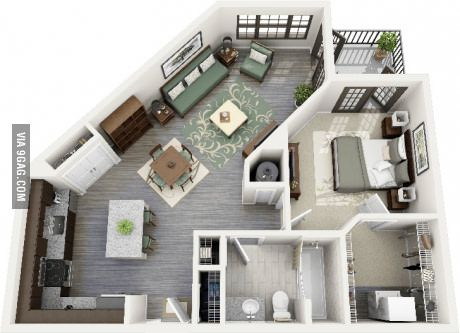 Single life apartment #4 Décor   DIY Ideas   Floor Plans
