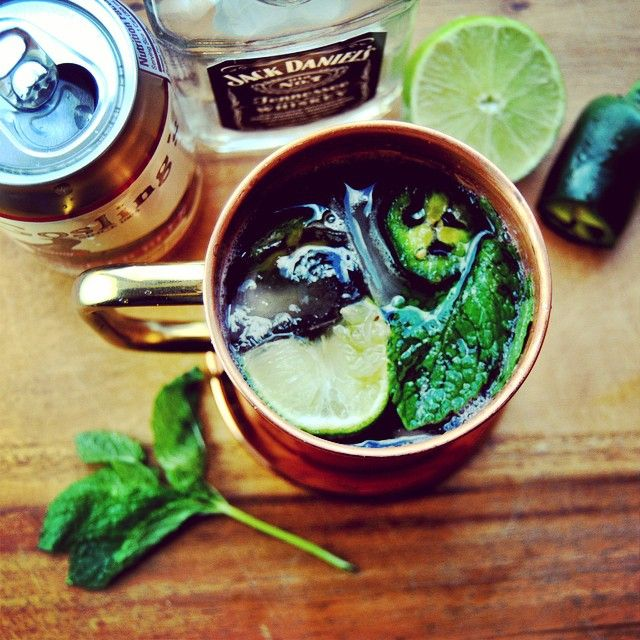 Moscow Mule with Whiskey