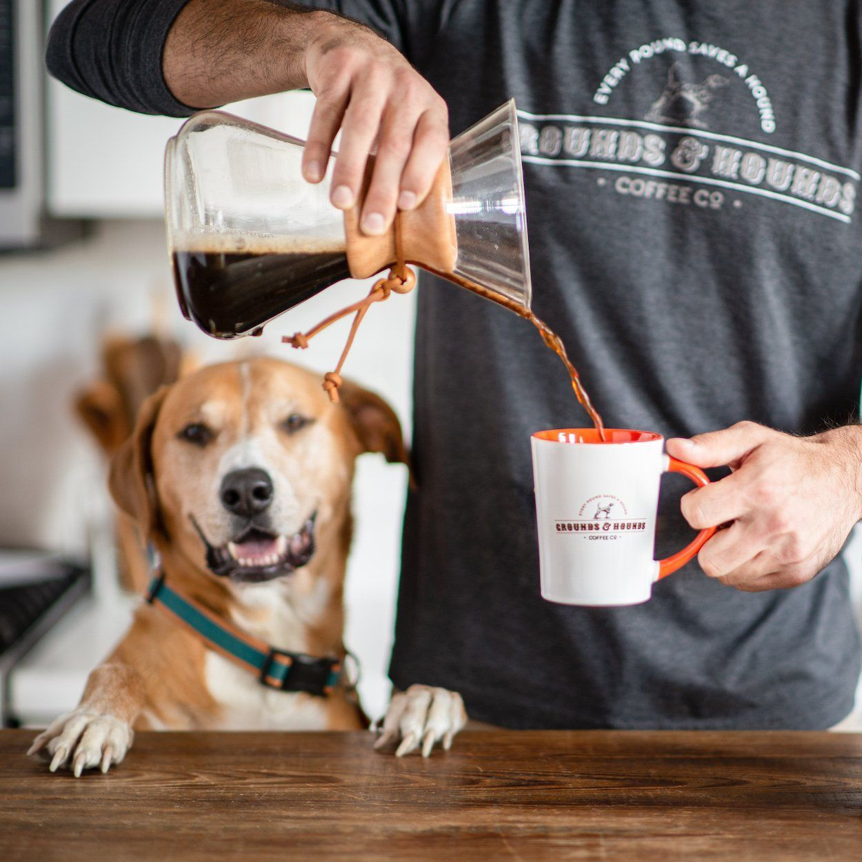 CHEMEX® Eight Cup Pour Over with Filters Coffee canister