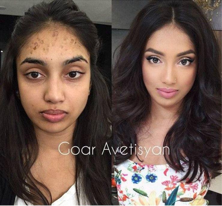 Une Nouvelle Serie Qui Montre A Quel Point Un Bon Maquillage Peut Changer Un Visage Mais Maquillage Avant Apres Maquillage Cheveux Transformation Maquillage