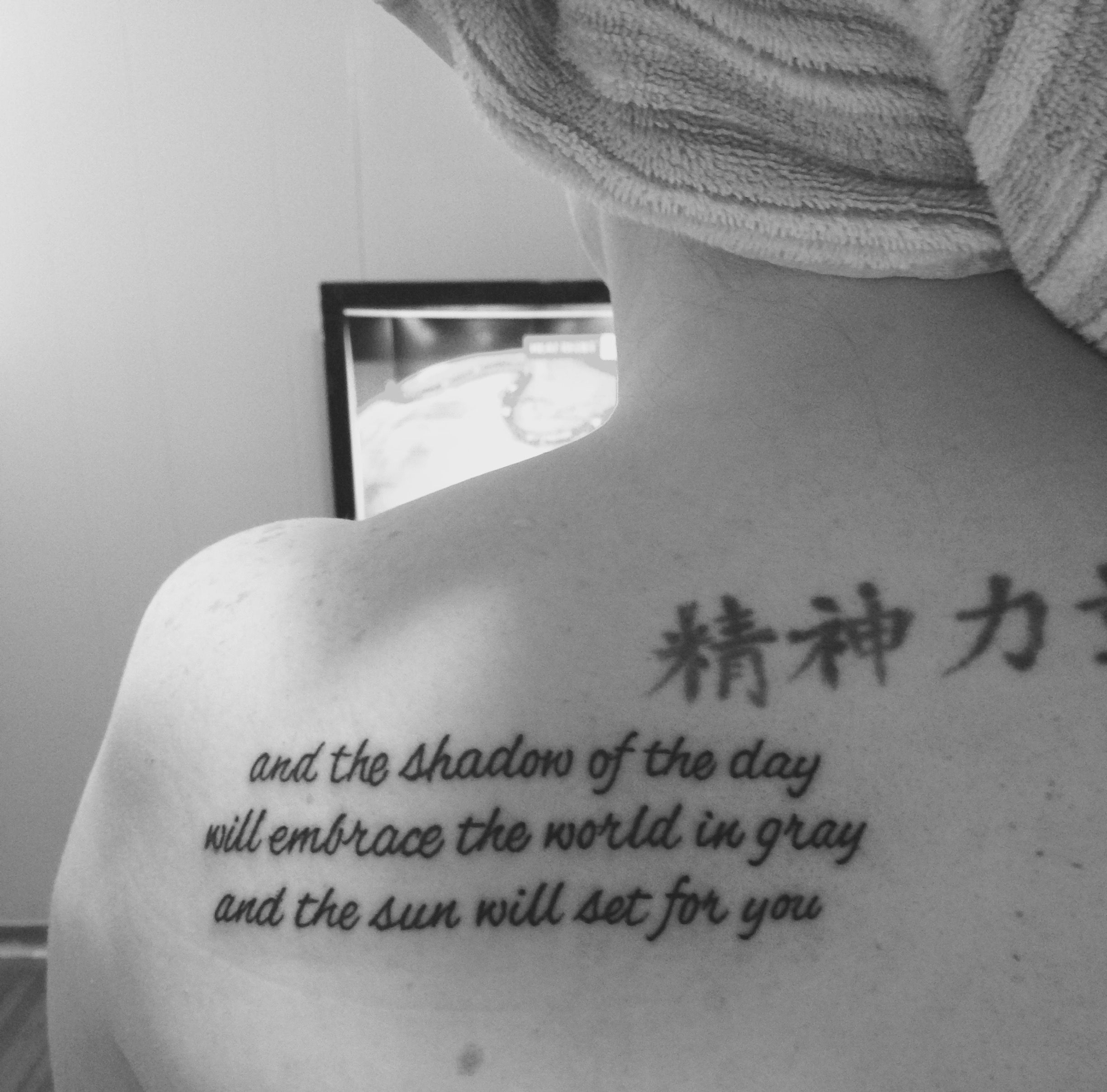 rip chester bennington my new tattoo of lyrics from my favorite lp song your music and. Black Bedroom Furniture Sets. Home Design Ideas
