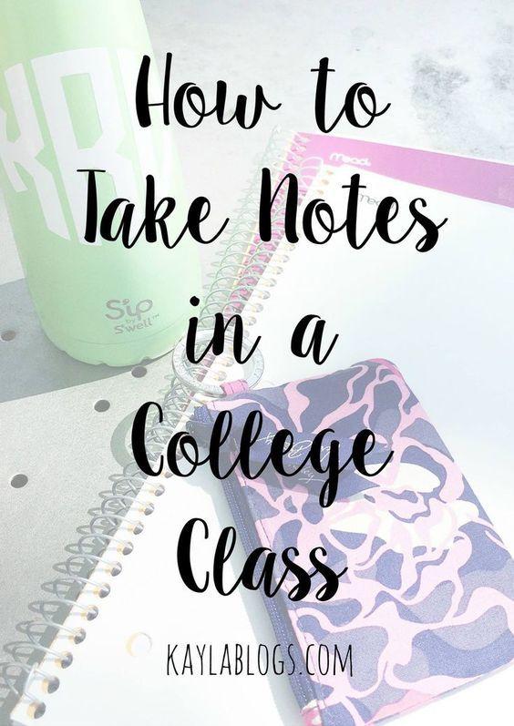 college class checklist