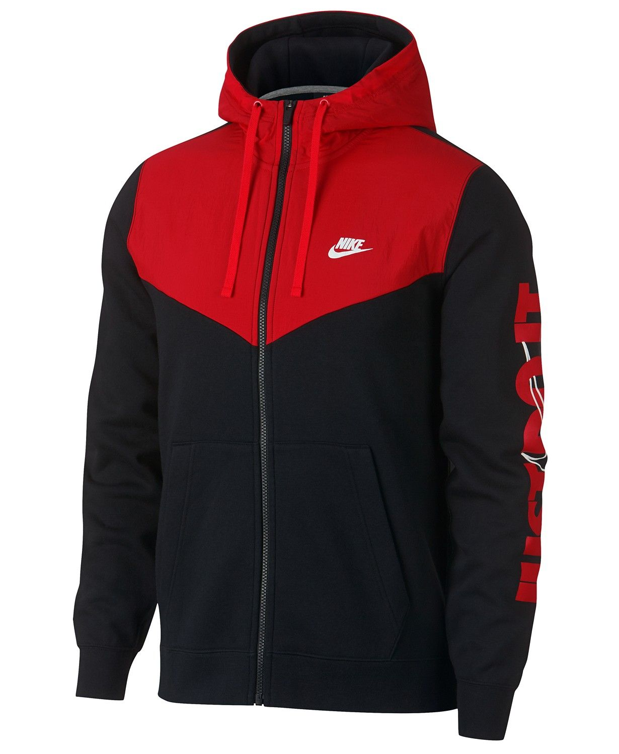 5bb55999fb7d Nike Men s Sportswear Just Do It Fleece Zip Hoodie - Hoodies   Sweatshirts  - Men - Macy s