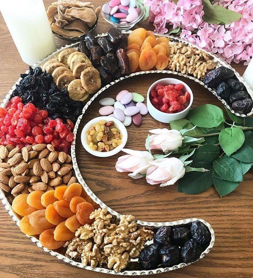 ᗩᖇᗩᗷiᑕ ᖴooᗪ On Instagram من خطبة النبي الأكرم محمد صلى الله عليه وآله في استقبال شهر رمضان المبارك أيها الناس إنه ق Food Food Photo Cheese Board