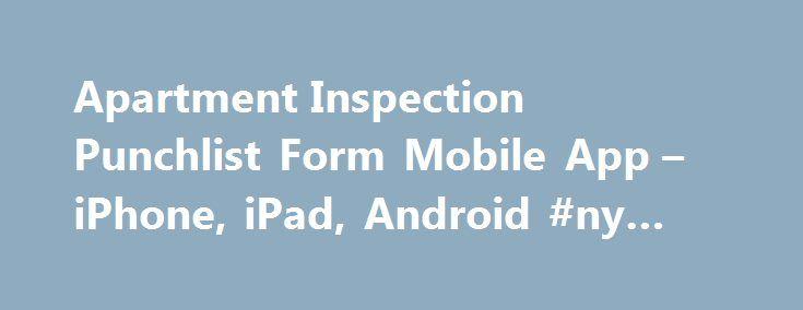 Apartment Inspection Punchlist Form Mobile App u2013 iPhone, iPad - punch list