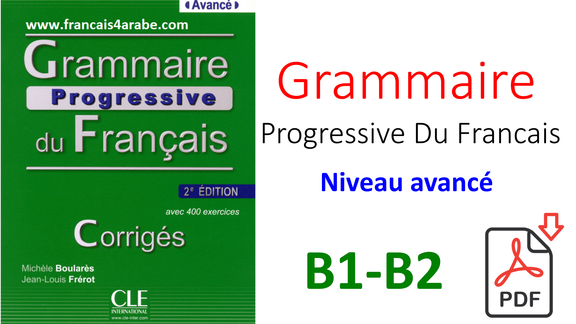 Telecharger Grammaire Progressive Du Francais Niveau Avance Pdf French Language Learning Download Books French Language