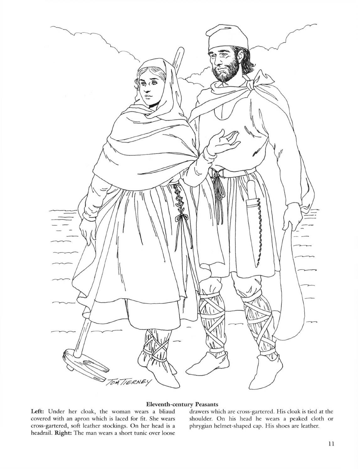 Medieval fashions coloring book | Coloring Pages | Pinterest ...