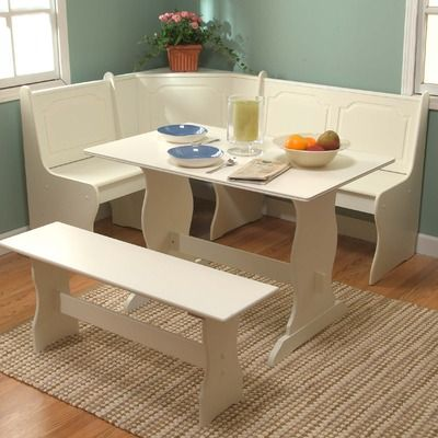 Tms Nook Three Piece Dining Set In Antique White I Want One Of These