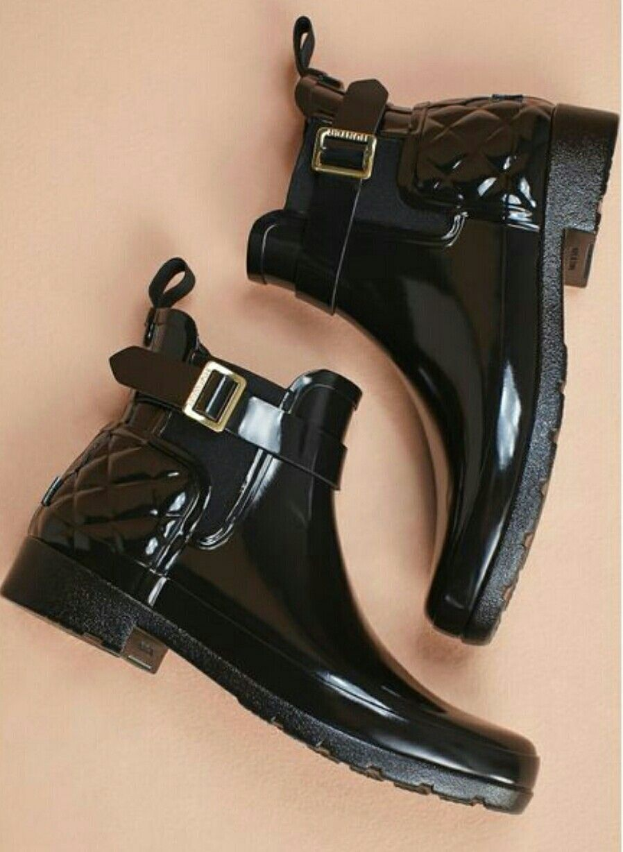 hot sales get online super popular Hunter quilted gloss Chelsea boots | Chelsea rain boots, Hunter ...