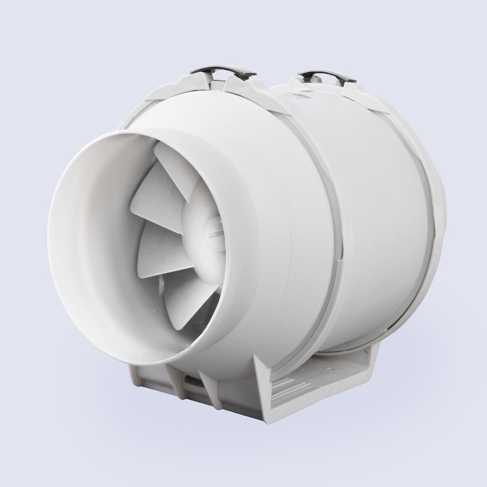 Inch Honguan Ventilation System Mm Inline Fan HFP V - Bathroom ventilation systems exhaust fans