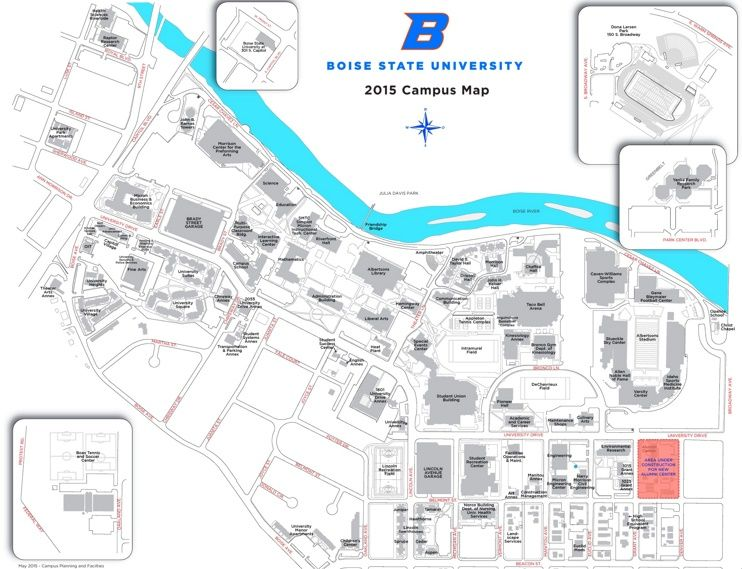 Boise State University Campus map Maps Pinterest Boise state