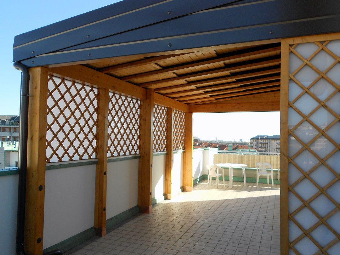 Coprire Terrazzo Con Veranda pergolato in legno, pergola legno: pergola piùcielo
