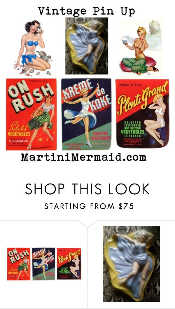 """Vintage Pin Up"" by martinimermaid ❤ liked on Polyvore featuring vintage"