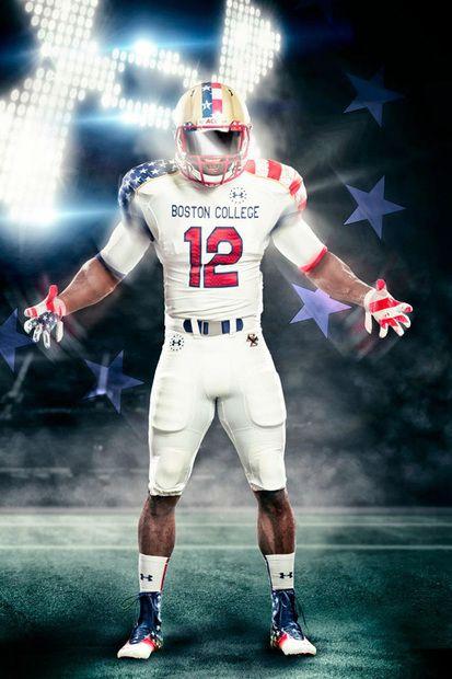 Boston College X Under Armour Freedom Football Uniforms