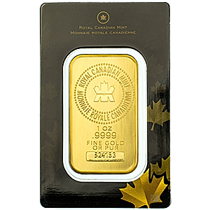 Royal Canadian Mint Gold Bar 1 Oz Each Gold Bar Contains A Minimum Of 9999 Gold 1 Ounce Royal Canadian Mint Gold Bar Each Bar I Gold Bar Mint Gold Gold